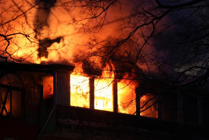 Brand. Bild från Elsäkerhetsverket.