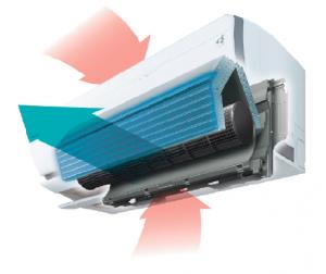 Denna luft/luft värmepump är som en hel klimatanläggning i en och samma produkt. Ururu Sarara II har Daikin's unika luftrenare inbyggd, samtidigt som den värmer, kyler, ventilerar, avfuktar och befuktar luften.