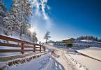 Snöfylld väg