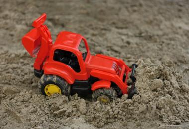 bigstock-Red-Excavator-96221645