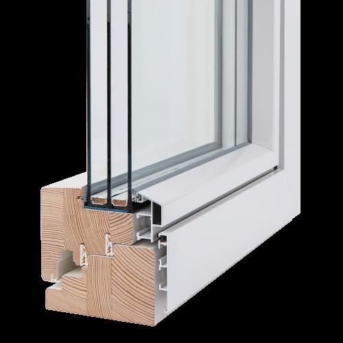 3-glas fönster i genomskärning. Foto: Ekstrands