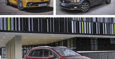Foto: Renault Clio R.S, Fiat Tipo, Volkswagen Golf Sportsvan.